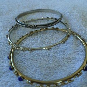3 vintage bangle bracelets